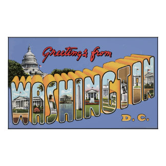 Greetings From Washington D.C., Vintage Poster
