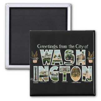 Greetings From Washington DC! 2 Inch Square Magnet