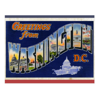 Greetings From Washington DC! Postcard