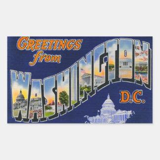 Greetings From Washington DC! Rectangular Sticker