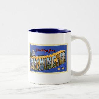 Greetings From Washington DC! Two-Tone Coffee Mug