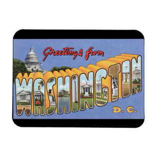 Greetings from Washington DC_Vintage Travel Poster Magnet