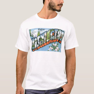 Greetings from Washington state! Vintage Post Card T-Shirt