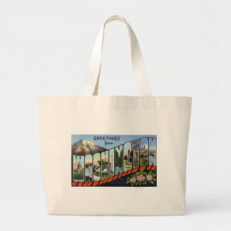 Greetings from Washington Tote Bags