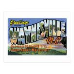 Greetings from Waynesville, North Carolina! Postcard