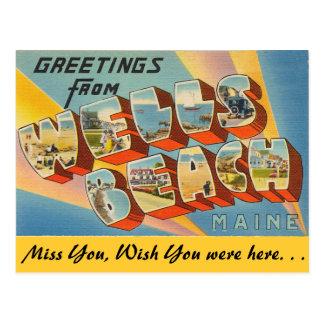 Greetings from Wells Beach Postcard