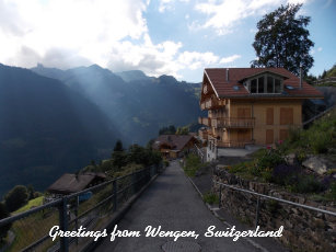 Greetings from switzerland gifts on zazzle greetings from wengen switzerland 1 postcard m4hsunfo