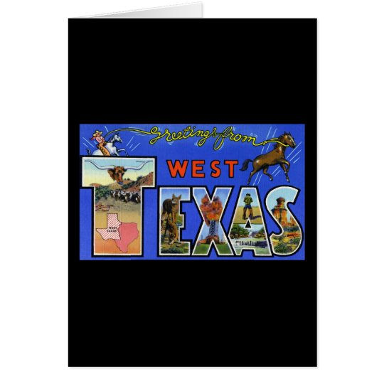 Greetings from West Texas Card