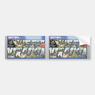 Greetings From West Virginia, Vintage Bumper Sticker
