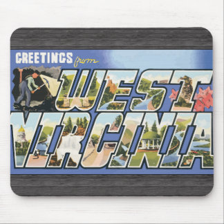 Greetings From West Virginia, Vintage Mouse Pad