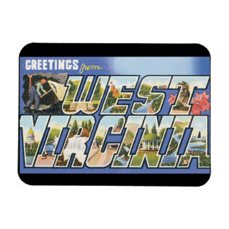 Greetings from West Virginia_Vintage Travel Poster Magnet