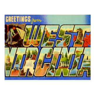 Greetings From West Virginia WV Postcard