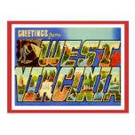 Greetings From West Virginia WV Postcard