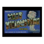 Greetings from West Yellowstone Montana Postcard