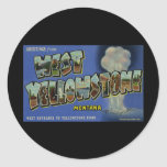 Greetings from West Yellowstone Montana Classic Round Sticker