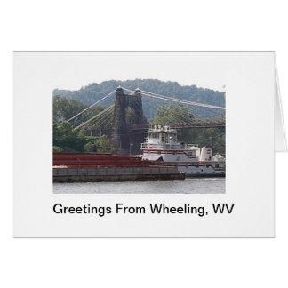 Greetings From Wheeling, WV ! Card