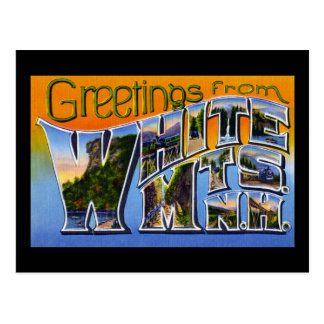 Greetings from White Mountains New Hampshire Postcard
