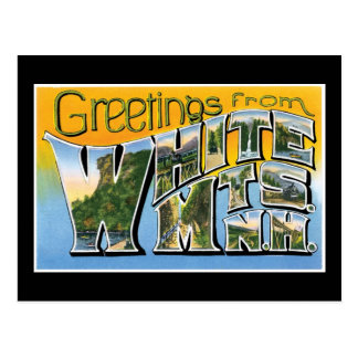 Greetings from White Mts, New Hampshire Postcard