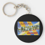 Greetings from Wilmington Delaware Basic Round Button Keychain