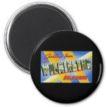 Greetings from Wilmington Delaware 2 Inch Round Magnet