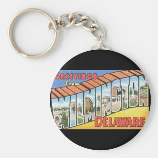 Greetings from Wilmington Delaware_Vintage Travel Keychain