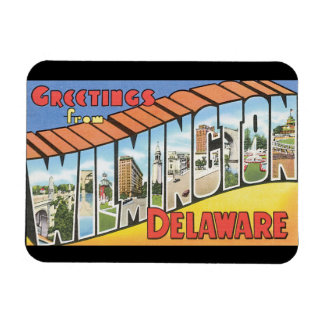 Greetings from Wilmington Delaware_Vintage Travel Magnet