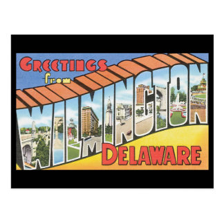 Greetings from Wilmington Delaware_Vintage Travel Postcard
