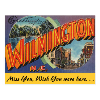 Greetings from Wilmington Postcard