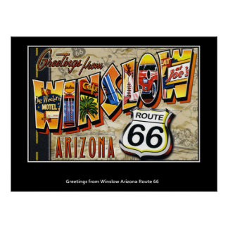 Greetings from Winslow Arizona Route 66 Poster