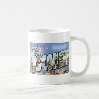 Greetings From Wisconsin, Vintage Coffee Mug