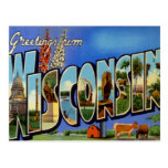 Greetings From Wisconsin WI USA Postcard