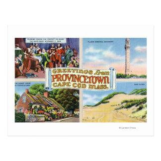 Greetings From with Scenic Scenes Postcard
