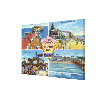 Greetings From with Scenic Views 2 Canvas Print