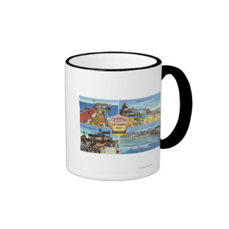 Greetings From with Scenic Views Ringer Coffee Mug