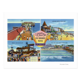 Greetings From with Scenic Views Postcard