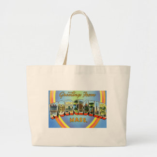 Greetings from Worcester Massachusetts Canvas Bags