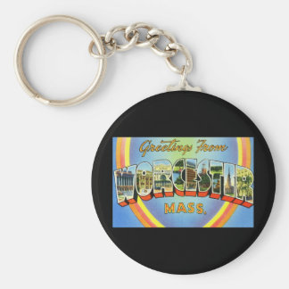 Greetings from Worcester Massachusetts Keychains