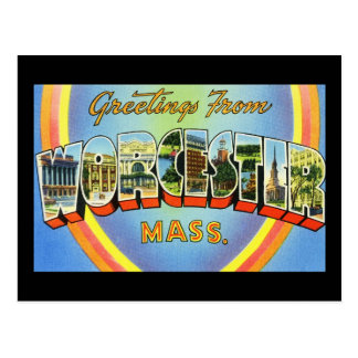 Greetings from Worcester Massachusetts Postcard