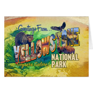 Greetings from Yellowstone National Park Card