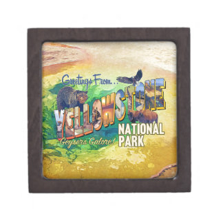 Greetings from Yellowstone National Park Gift Box