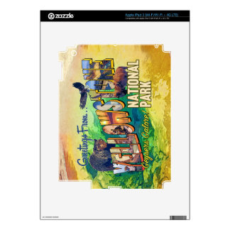 Greetings from Yellowstone National Park iPad 3 Skin
