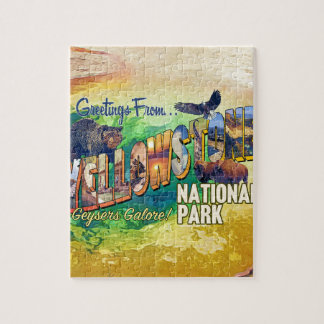 Greetings from Yellowstone National Park Jigsaw Puzzle