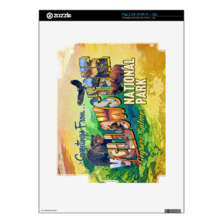 Greetings from Yellowstone National Park Skins For iPad 2