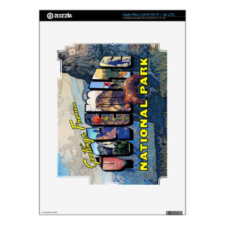 Greetings From Yosemite National Park iPad 3 Decals