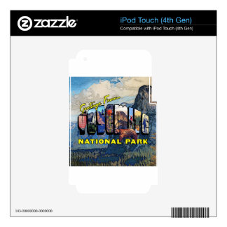 Greetings From Yosemite National Park iPod Touch 4G Skins