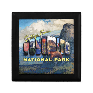 Greetings From Yosemite National Park Jewelry Box