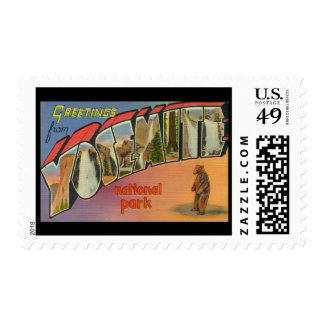 Greetings From Yosemite National Park Postage
