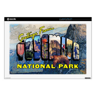 Greetings From Yosemite National Park Skin For Laptop