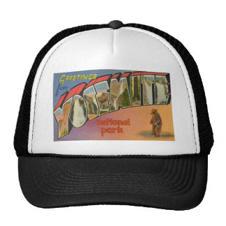 Greetings From Yosemite National Park Trucker Hat