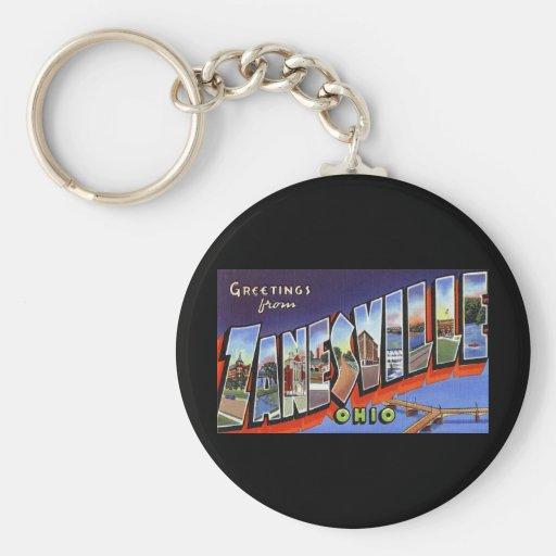 Greetings from Zanesville Ohio Basic Round Button Keychain